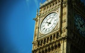 Картинка небо, часы, лондон, big ben
