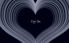 Обои синий, настроение, сердце, минимализм, love