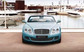 Обои Bentley, Continental, Причал, Яхты, Машина, Капот, Передок