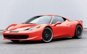 Обои italia, 458, Ferrari, красная