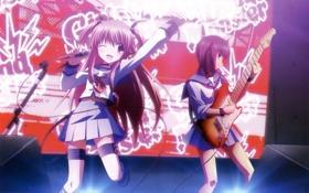 Обои гитара, концерт, yui, iwasawa, Angel beats!