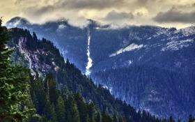 Картинка пейзаж, горы, природа, HDR