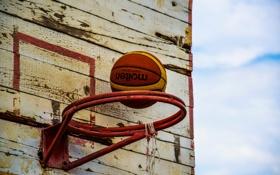 Обои стиль, мяч, кольцо, баскетбол