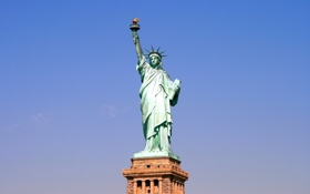 Обои sky, Statue of Liberty, New York Harbor