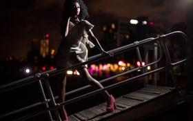 Картинка девушка, ночь, фон