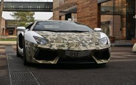 Обои Lamborghini, Russia, Moscow, LP700-4, Aventador