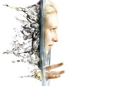 Обои фон, Fringe, лицо, белый, вода