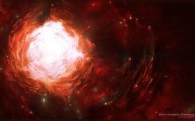 Обои созвездие, туннель, пространство