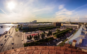 Обои лето, Russia, питер, санкт-петербург, St. Petersburg, финлянский вокзал, площадь Ленина