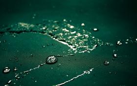 Обои капли, ткань, обои, зеленый, волокно, макро, цвет