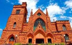 Обои здание, церковь, first presbyterian church