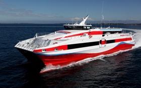 Картинка море, судно, катамаран, catamaran