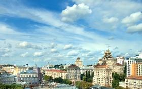 Обои фото, Небо, Облака, Дома, Город, Украина, Киев
