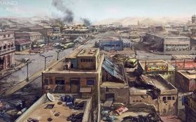 Картинка город, война, арт, war, Command & Conquer