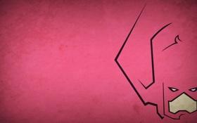 Обои розовый, минимализм, злодей, галактус