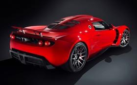 Обои Красный, Машина, Red, Car, Автомобиль, Hennessey, Venom GT