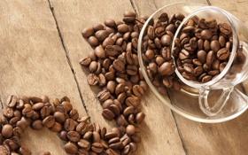 Картинка макро, кофе, зерна, чашка, macro, cup, beans