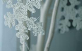 Картинка макро, снежинка, фигурка