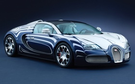 Обои veyron, bugatti, grand sport, фарфор, l or blanc
