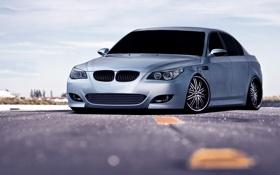 Обои авто, асфальт, серый, BMW