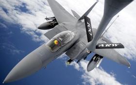 Обои небо, самолёт, F-15E Strike Eagle