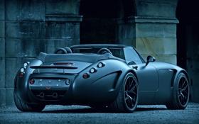 Обои спорткар, вид сзади, roadster, Wiesmann MF5 Black Bat