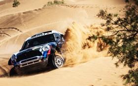 Картинка Mini, Черный, Спорт, Гонка, Фары, Mini Cooper, Dakar