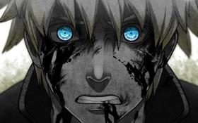 Обои кровь, аниме, Naruto, art, shinobi, Naruto Uzumaki