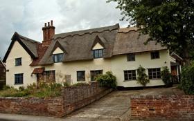 Картинка город, фото, дома, Великобритания, Monks Eleigh Suffolk