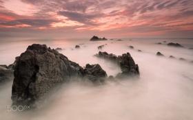 Картинка море, камни, скалы, Испания, дракона, хребет