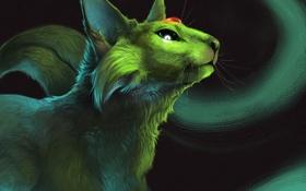 Картинка животное, аниме, арт, pokemon, espeon, rajewel