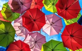 Обои зонты, фон, небо