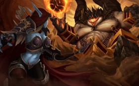 Обои hero, Sylvanas, Heroes of the Storm, Azmodan, Lord of Sin, The Banshee Queen