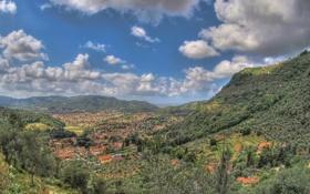 Картинка облака, горы, Италия, панорама, Italy, Камайоре, Camaiore