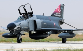 Картинка истребитель, многоцелевой, Phantom II, McDonnell Douglas, F-4E, «Фантом» II
