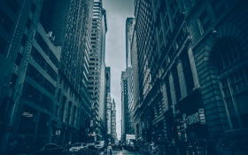 Картинка city, Нью-Йорк, здания, улица, street, New York, Пятое авеню