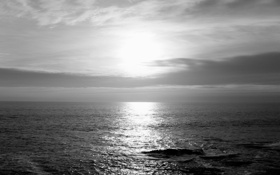 Картинка море, волны, небо, вода, солнце, облака, пейзаж