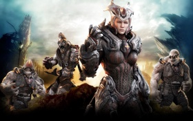 Картинка Xbox 360, gears of war 3, шутер, Epic Games