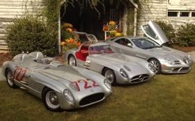 Картинка Mercedes-Benz, SLR, Мерседес.разные поколения