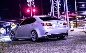 Картинка Lexus, Night, Tuning, Back, 350, Railroad, Wald