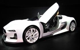 Обои машина, ситроен, белая, авто