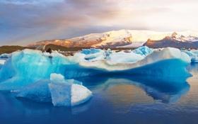 Картинка лед, холод, вода, льдины