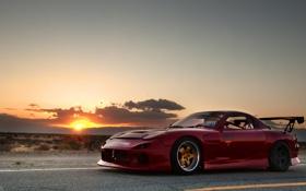 Картинка закат, пустыня, тюнинг, Mazda, desert, tuning, мазда