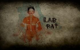 Обои девушка, рисунок, форма, крыса, роба, лабораторная