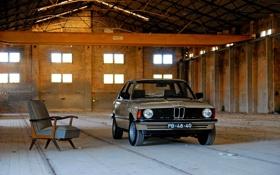 Обои фон, кресло, ангар, автомобиль, покрытие, BMW 315