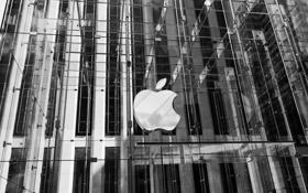 Картинка здание, яблоко, нью-йорк, new-york, nyc, apple store