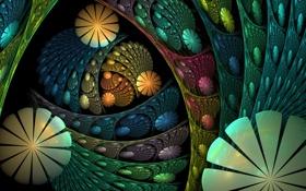 Картинка свет, объем, узор, слой, цвет