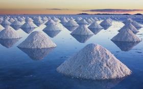 Картинка вода, соль, Боливия, солончак