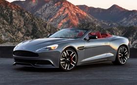 Обои Aston Martin, астон мартин, US-spec, 2013, Vanquish, ванквиш, Volante