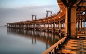 Картинка пейзаж, мост, город